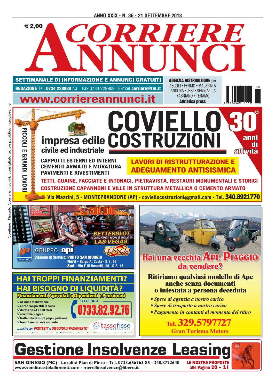 Corriere 36 2018 By Corriere Annunci Issuu