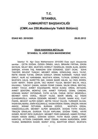 e1b71f5cc54f6 balyoz darbe davasi iddianemesi 01 by reporter123 - issuu