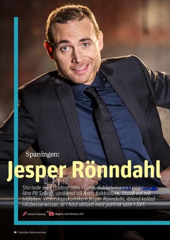 Page 18 of Jesper Rönndahl i nya numret av Tidskriften Folkuniversitetet #3, 2018