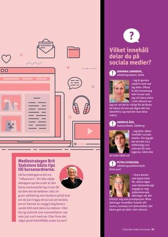 Page 21 of Hur får du spinn med ditt innehåll i sociala medier?