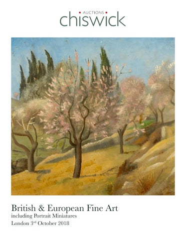 7a1b152e1168 British & European Fine Art including Portrait Miniatures 3 October 2018. 1  Colville Road, London ...