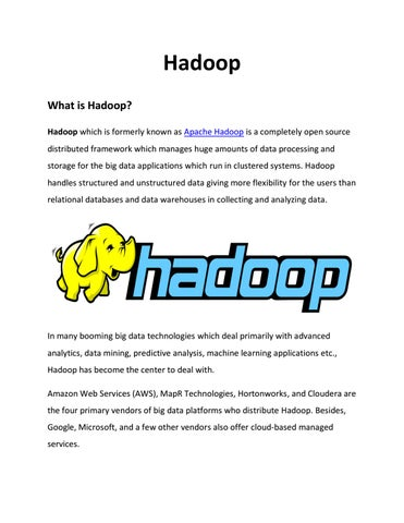 Big Data Hadoop and its real time applications pdf – IQ Online