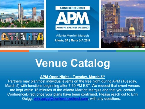 buy online 11e4a bc3b3 ... Tuesday, March 5th Partners may plan host individual events on the free  night during APM (Tuesday, March 5) with functions beginning after 7 30 PM  EST.