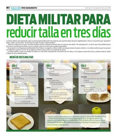 Dieta militar tres dias