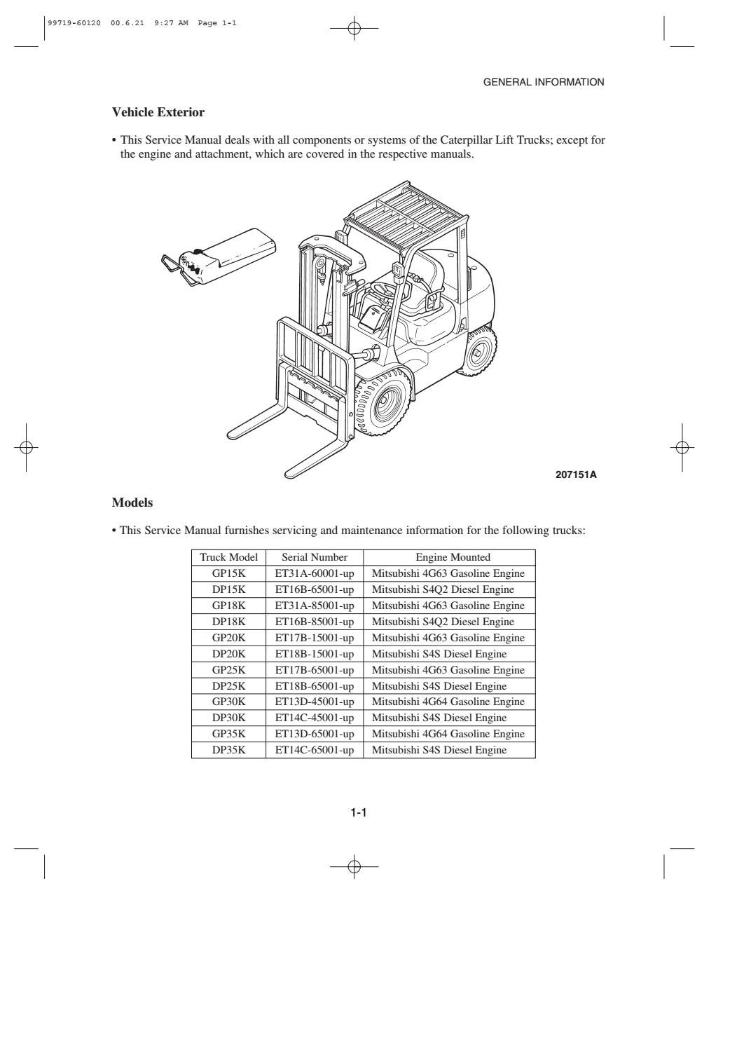 mitsubishi 4g63 engine diagram caterpillar cat dp30k fc forklift lift trucks service repair  caterpillar cat dp30k fc forklift lift
