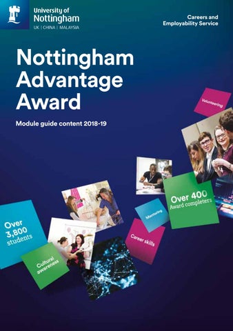 Nottingham Advantage Award Module Guide 2018 19 By Jackie