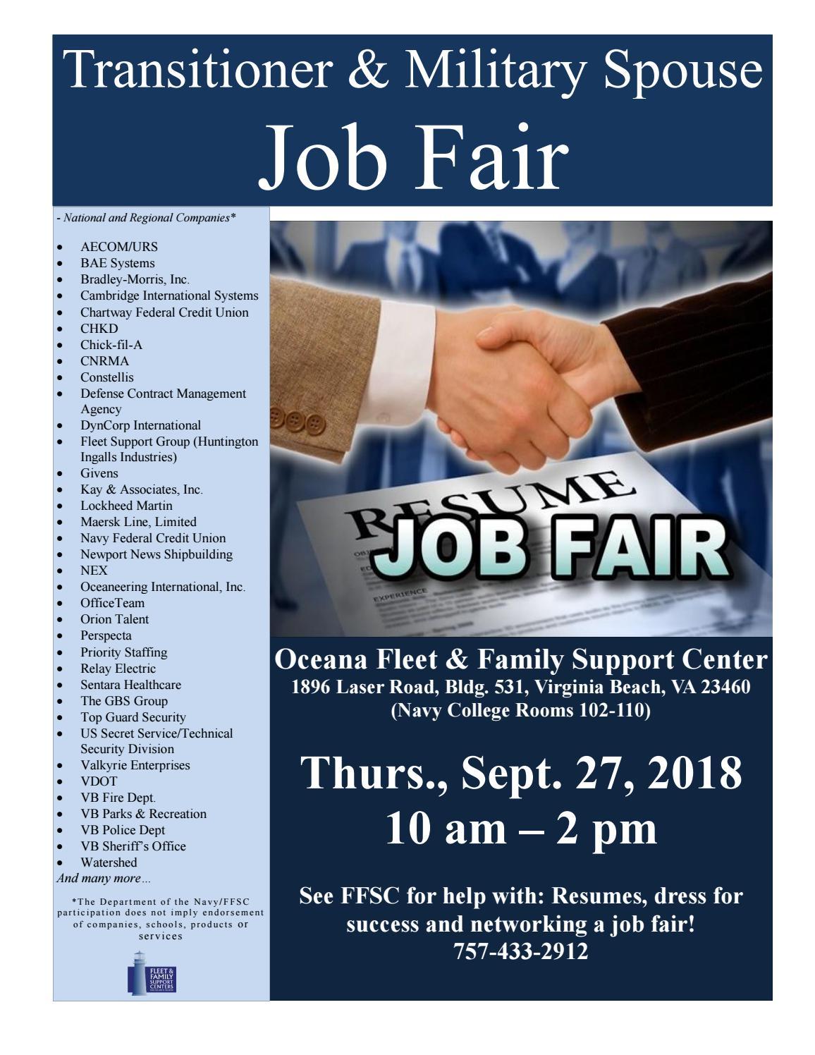 Ffsc Oceana Job Fair 092718 By Jen Allison Issuu Relay Electric Virginia Beach