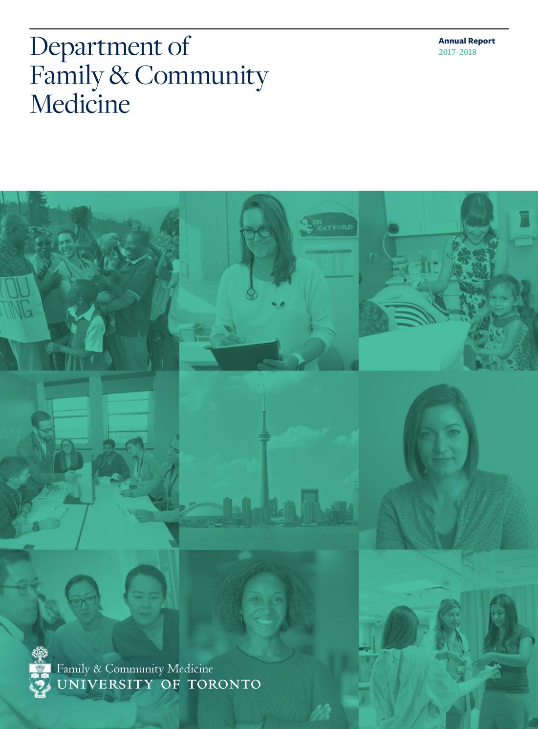Department of Family and Community Medicine Annual Report