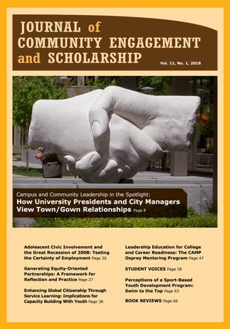 Journal of Community Engagement and Scholarship | Vol  11