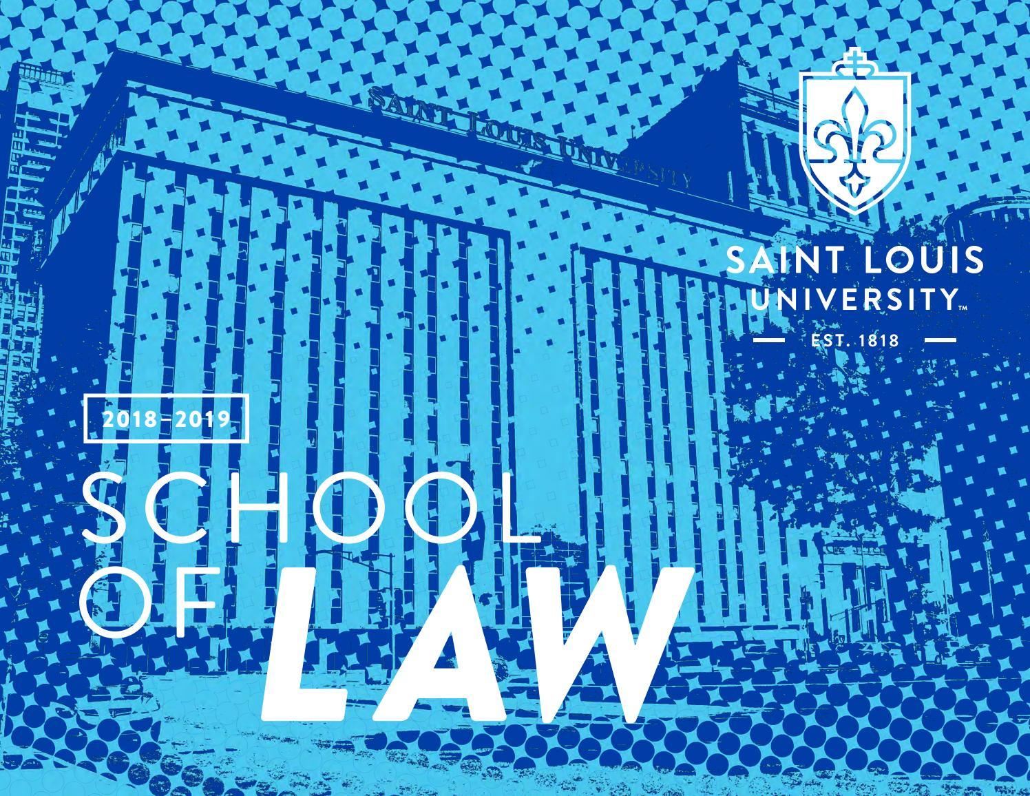 Viewbook SLU LAW 2018-19 by SLU LAW - issuu