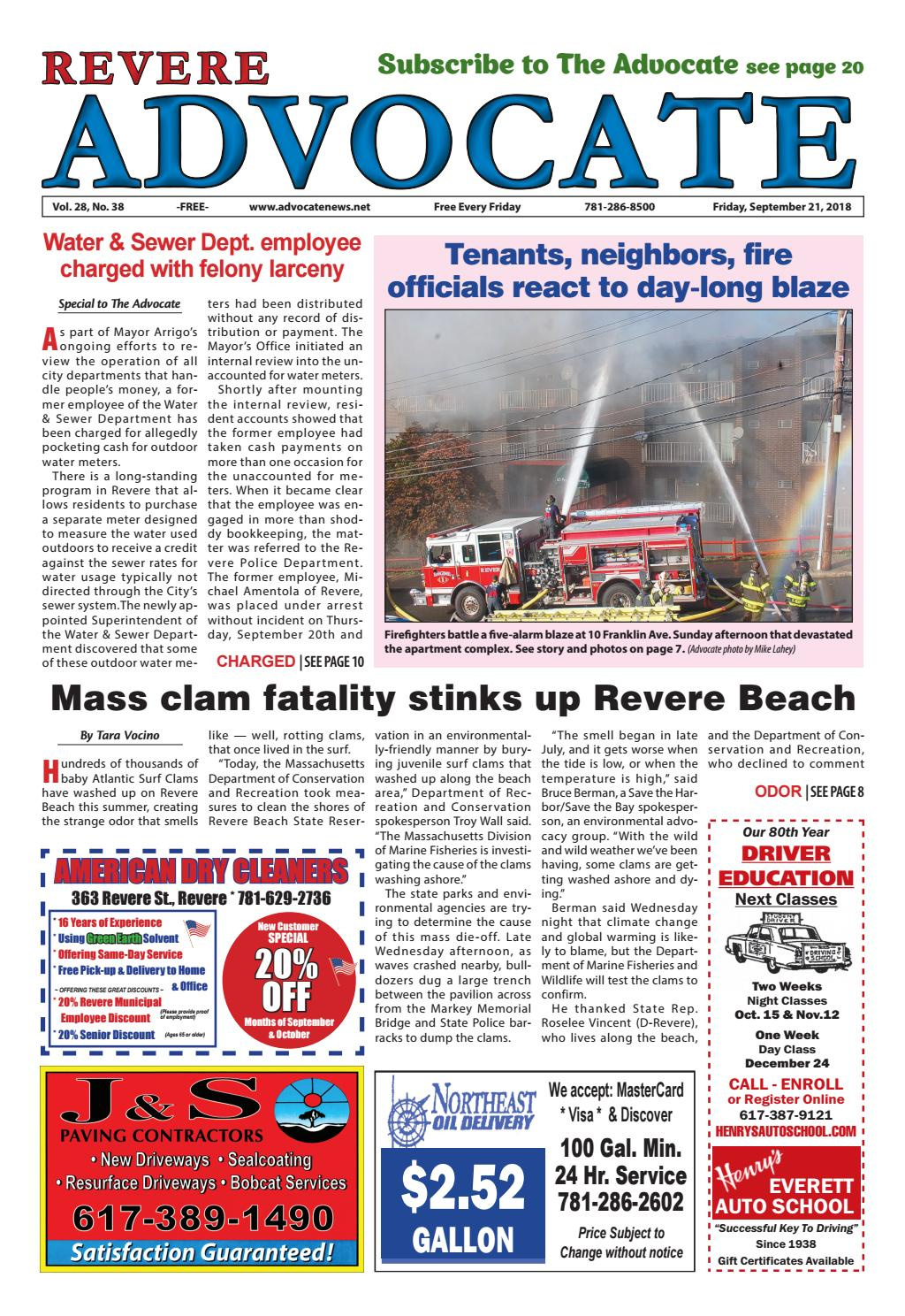 The Revere Advocate Friday September 21 2018 By Mike Kurov Issuu Les Catino New York Queens Satchel Black