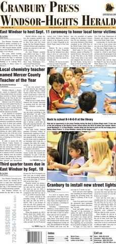 2018-09-07- The Cranbury Press & The Windsor-Hights Herald