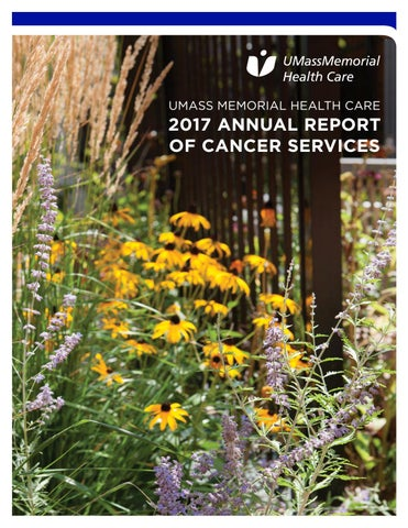 2017 Annual Report of Cancer Services by UMass Memorial Medical