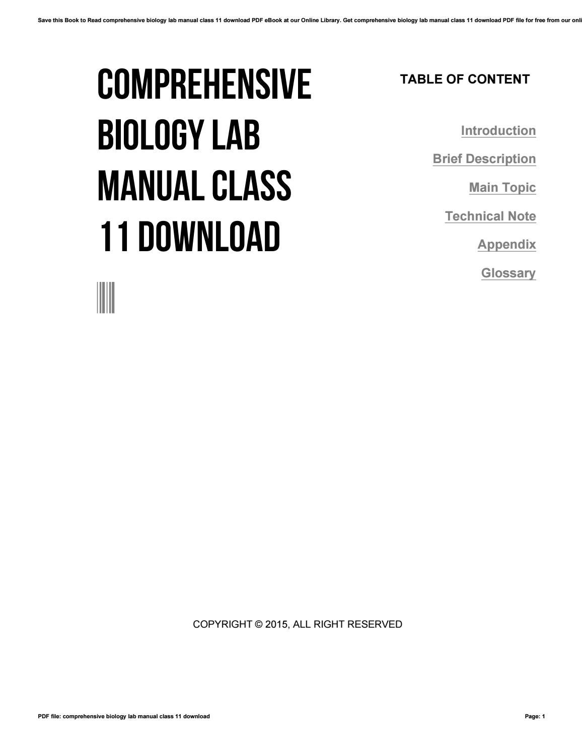 Together With Biology Class 11 Lab Manual.pdf - Free Download