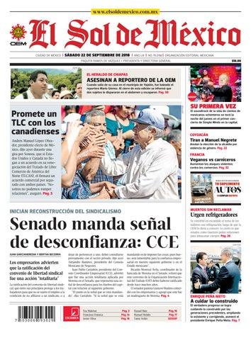 99c581a9bc El Sol de México a 22 de septiembre del 2018 by El Sol de México - issuu