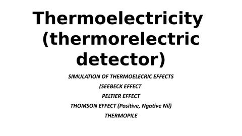 simulation of Thermoelectric detectors by Boyvanss Nagassa