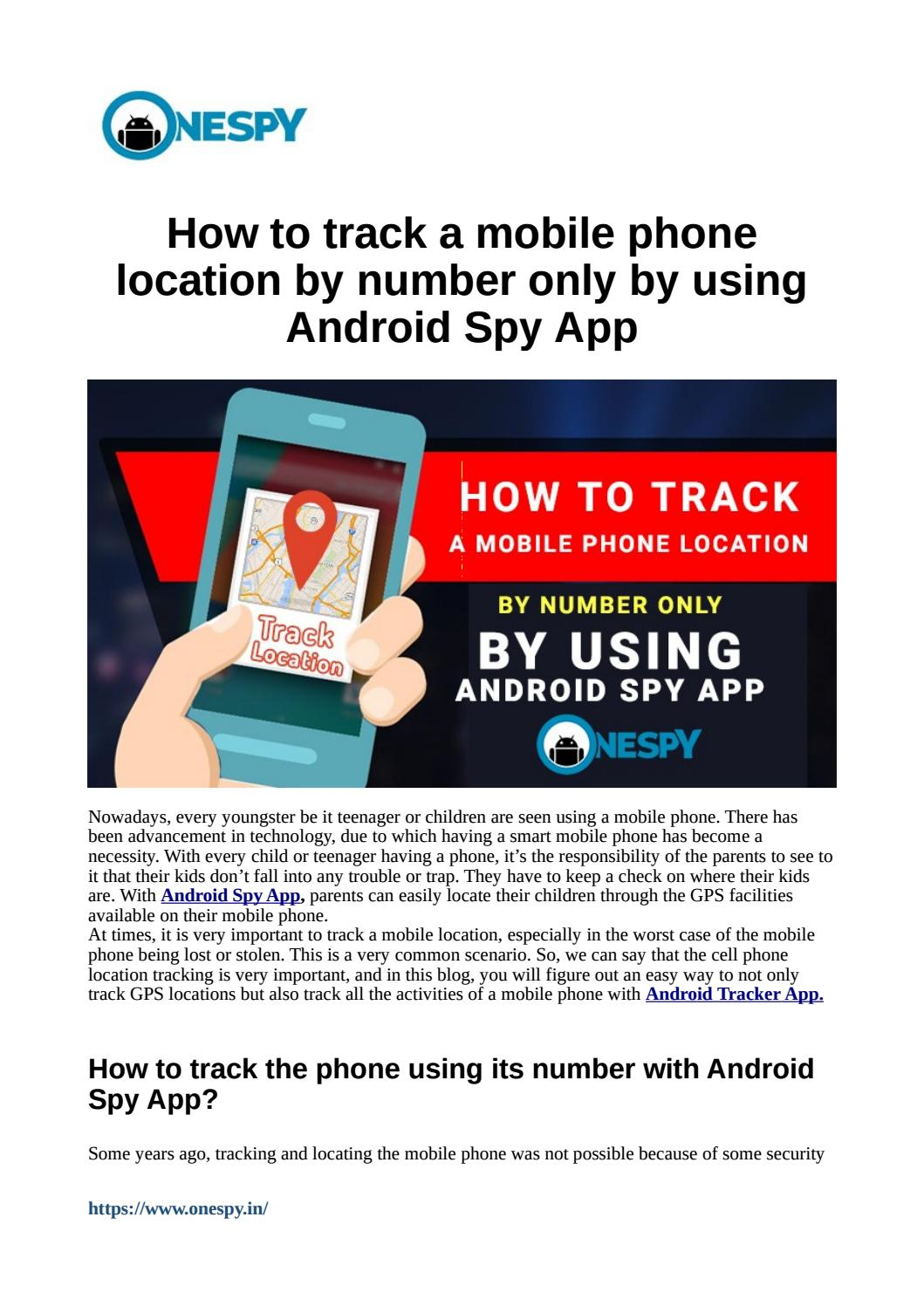 How to track a mobile phone location by number only by using Android