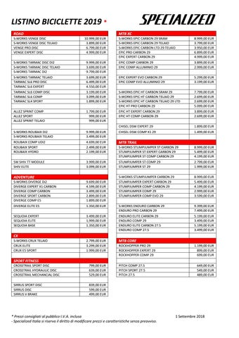 Listino prezzi Specialized 2019 by MTB-VCO COM - issuu