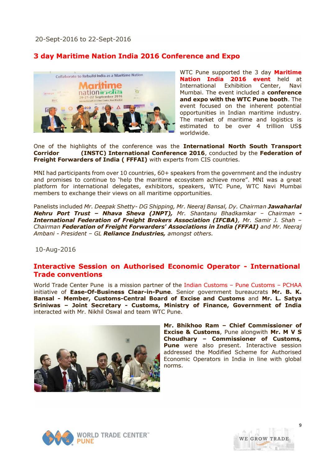 World Trade Center Pune - WTC Pune Event & Network Snapshot