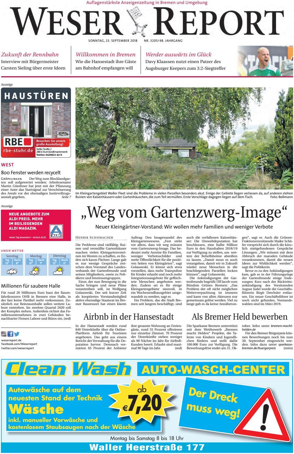 Weser Report - West vom 23.09.2018 by KPS Verlagsgesellschaft mbH ...