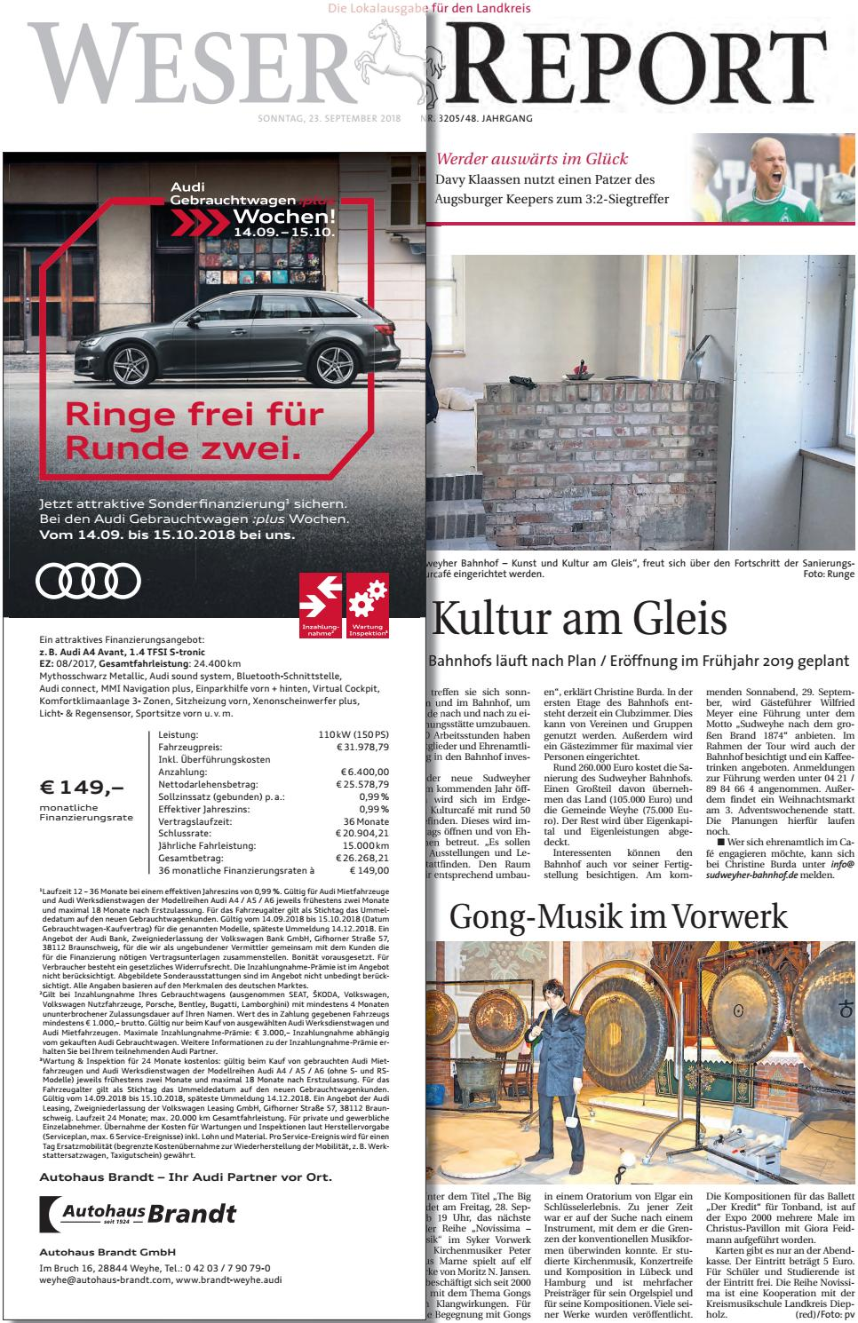 Weser Report Weyhe, Syke, Bassum vom 23.09.2018 by KPS