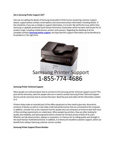 samsung printer support