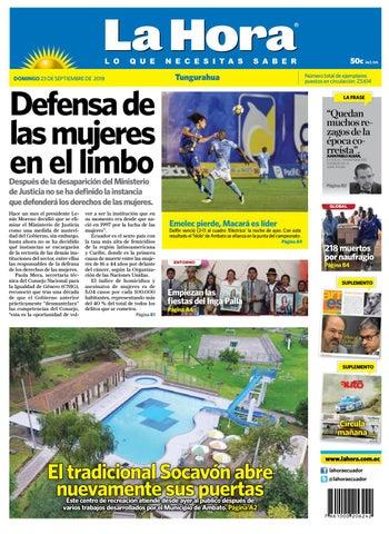 buy popular 8b22d 99055 Ambato 23 de septiembre del 2018 by Diario La Hora Ecuador - issuu