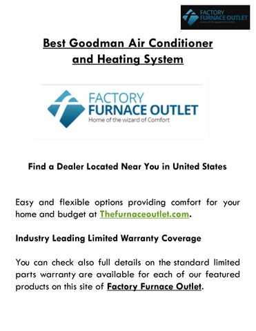 Best Air Conditioner By Factory Furnace Outlet Issuu