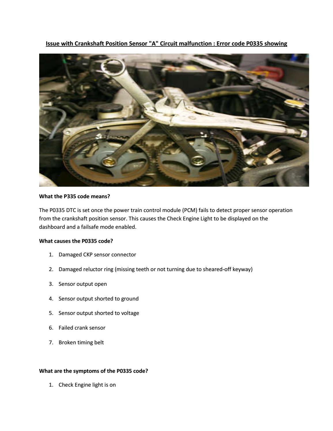 Partsavatar Car Parts, Toronto - Issue with Crankshaft