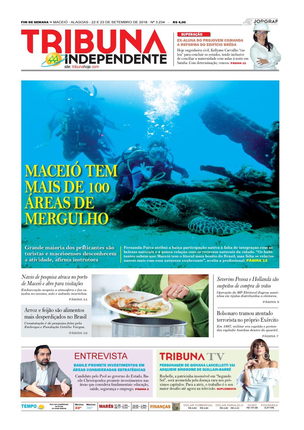 Edição número 3234 - 22 e 23 de setembro de 2018 by Tribuna Hoje - issuu 138fe84be5e