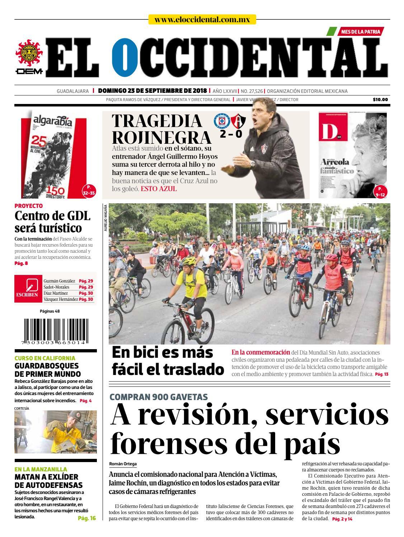 Edición digital 23 de septiembre de 2018 by EL OCCIDENTAL - issuu