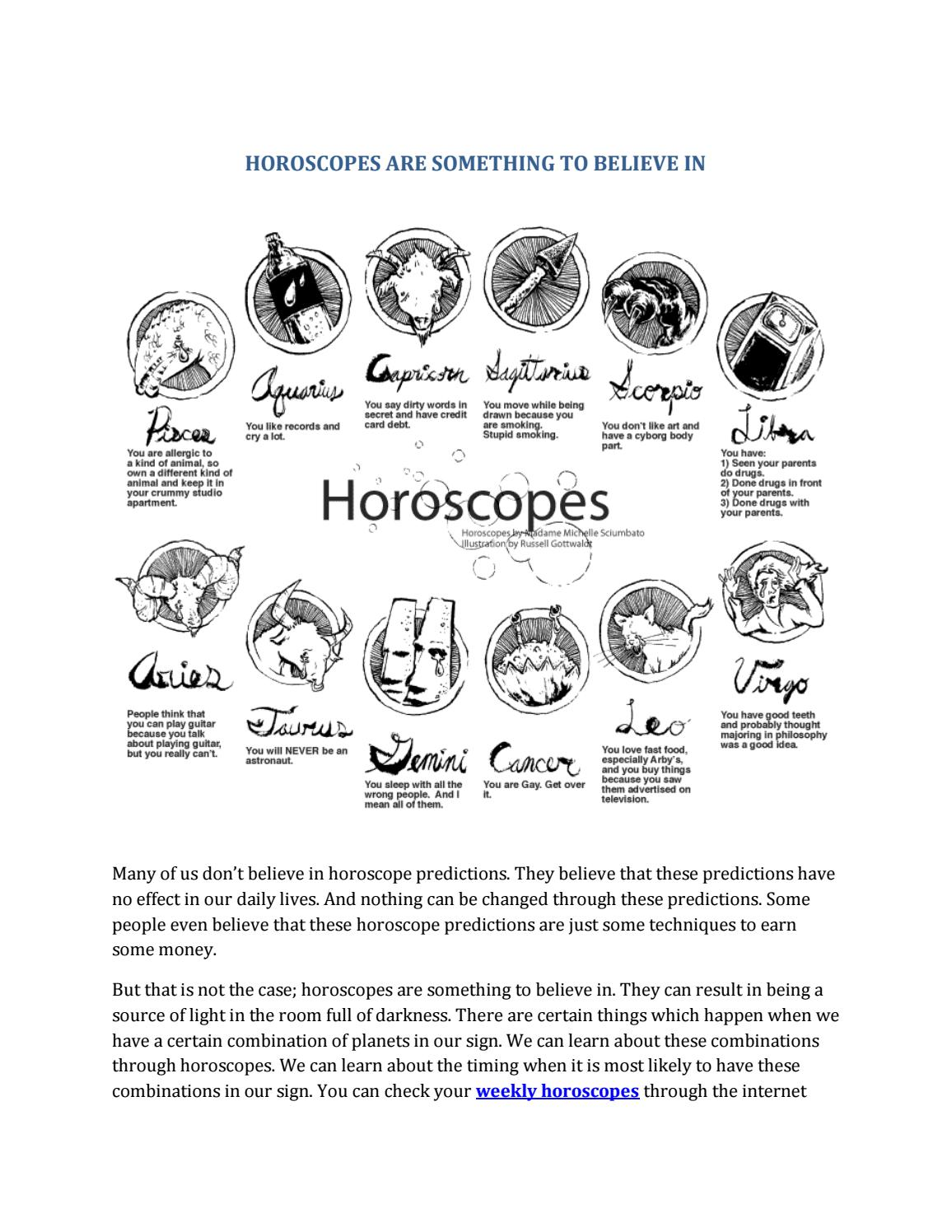 Horoscopes are something to believe in by Truth Star - issuu