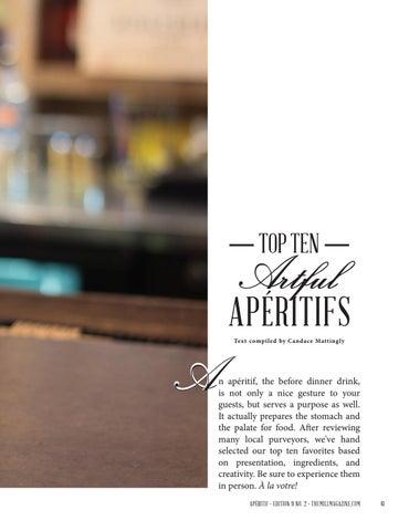 Page 61 of Top Ten Artful Apéritifs