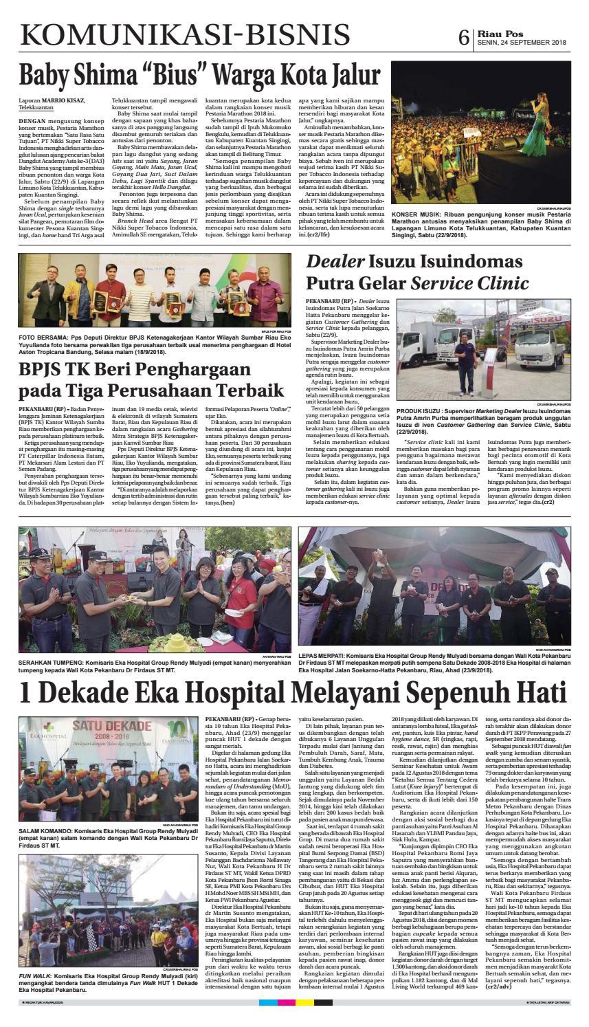 Riau Pos Edisi 24 September 2018 By Riau Pos Issuu