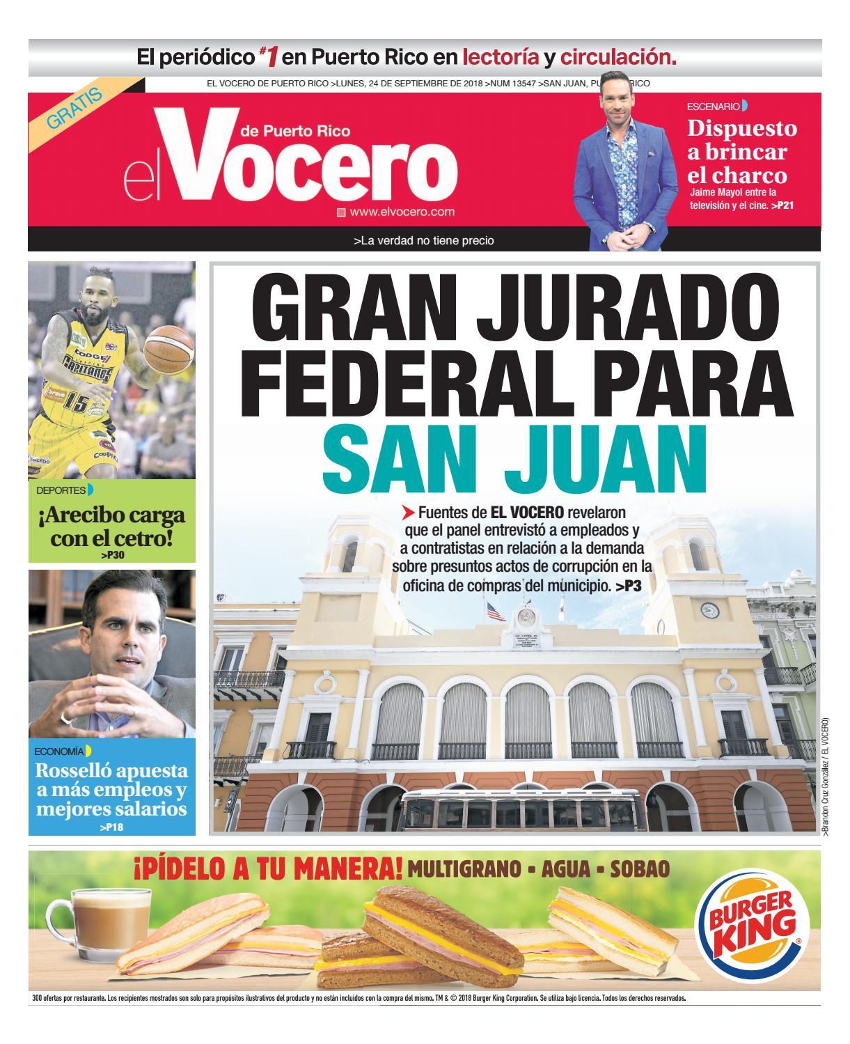 ee7746b2a7 Edición del 24 de septiembre de 2018 by El Vocero de Puerto Rico - issuu
