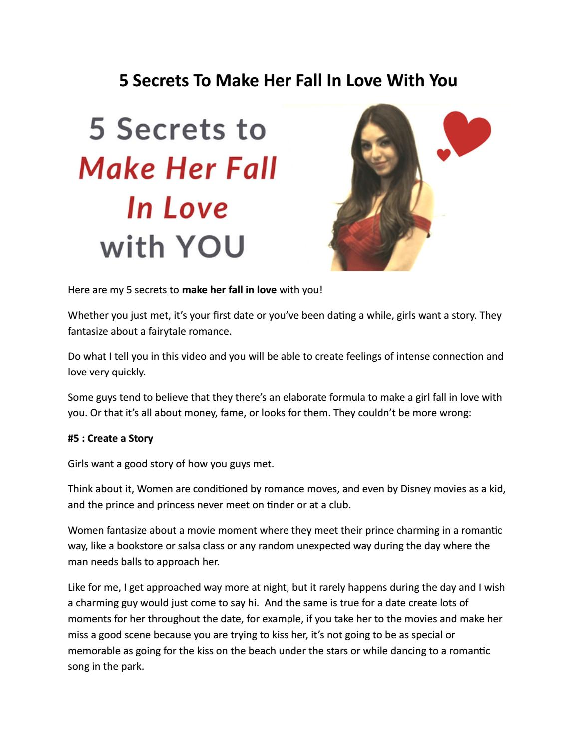 5 Secrets To Make Her Fall In Love With You by The Attractive Man