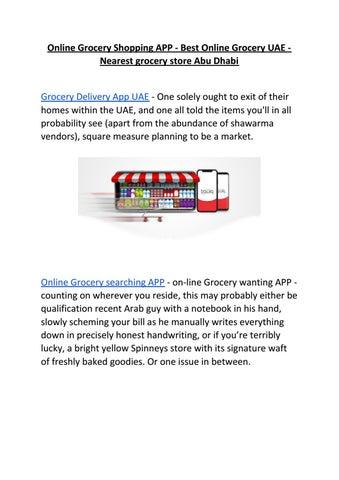 Online Grocery Shopping APP - Best Online Grocery UAE