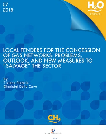 LOCAL TENDERS FOR THE CONCESSION OF GAS NETWORKS by Bolognafiere