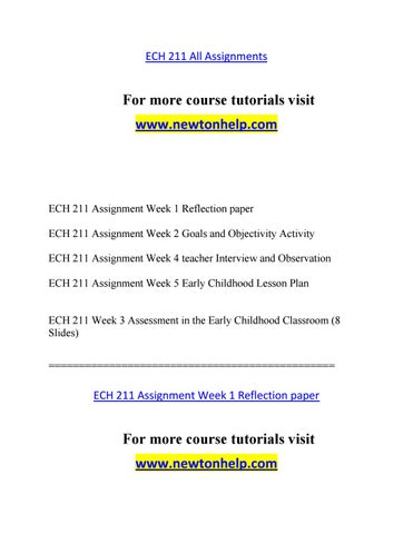 observation paper for early childhood