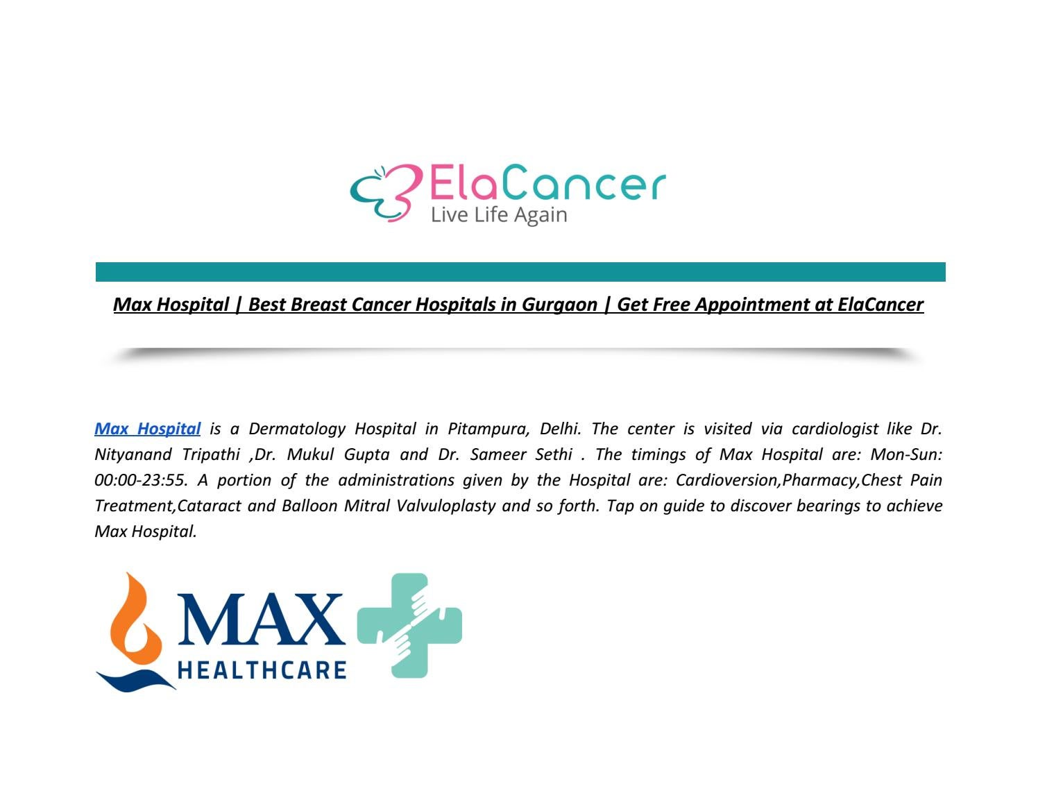 Best breast cancer treatment centers