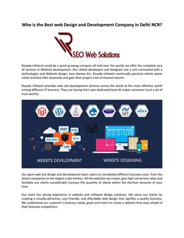 Who Is The Best Web Design And Development Company In Delhi Ncr By Rosada Infotech Issuu