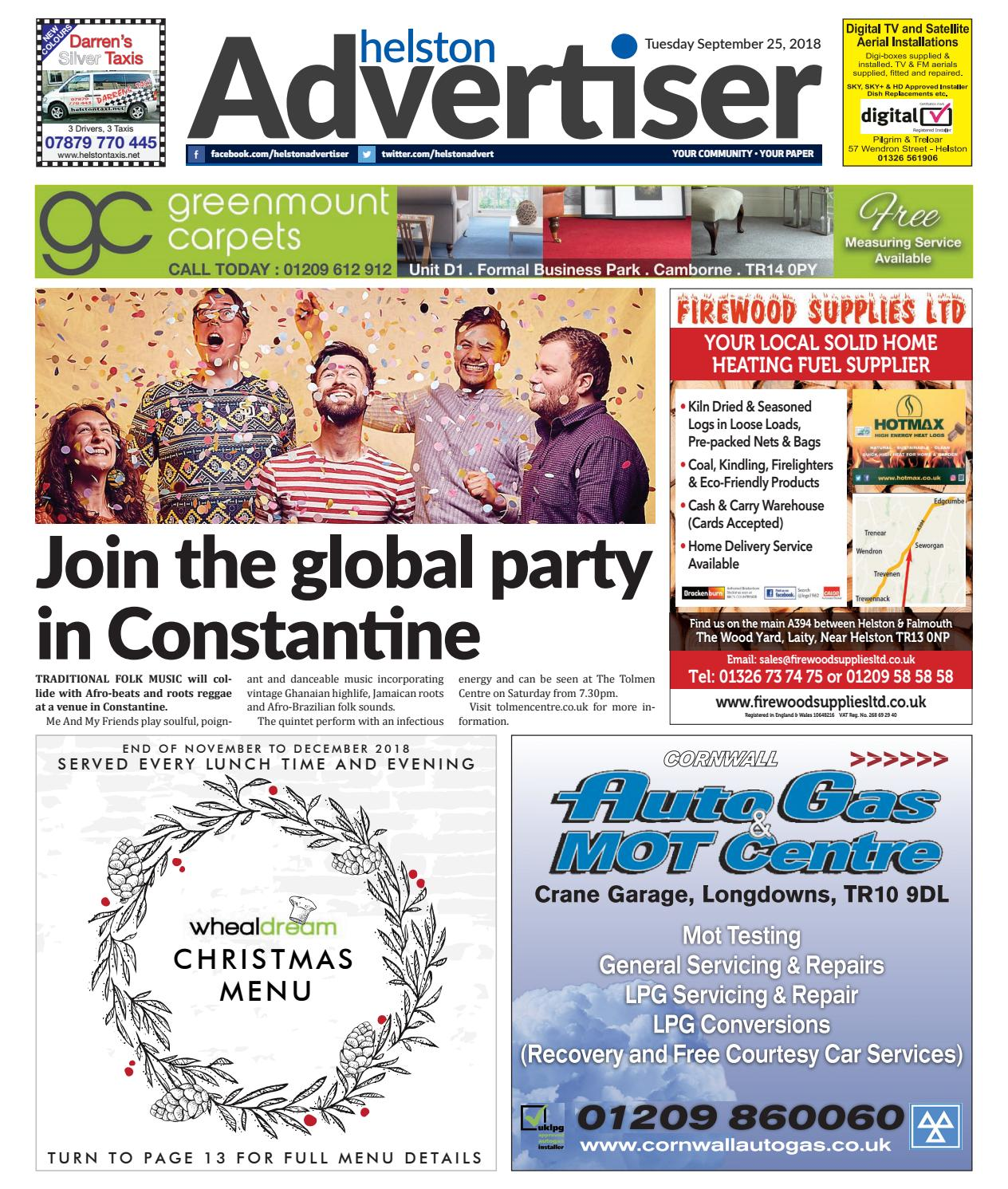 Helston Advertiser September 25th 2018 By Issuu Kompresor Kia New Rio 2006 Hcc Ori