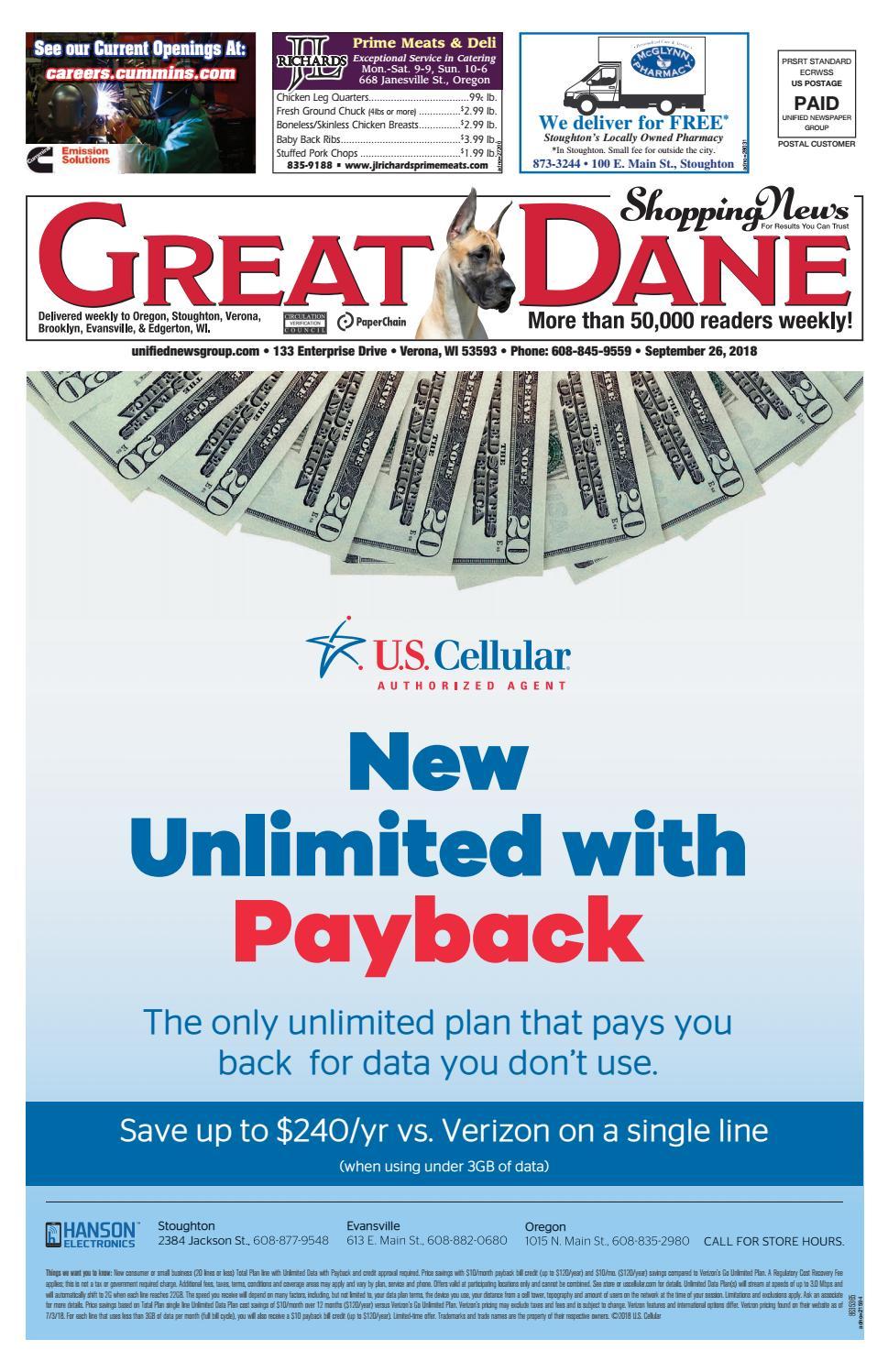9/26/18 Great Dane Shopping News by Woodward Community Media