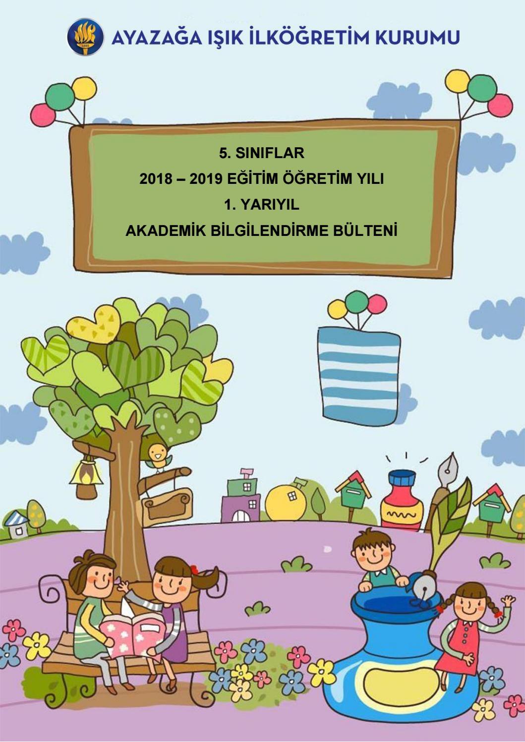5 Siniflar 2018 2019 Egitim Ogretim Yili 1 Yariyil Akademik