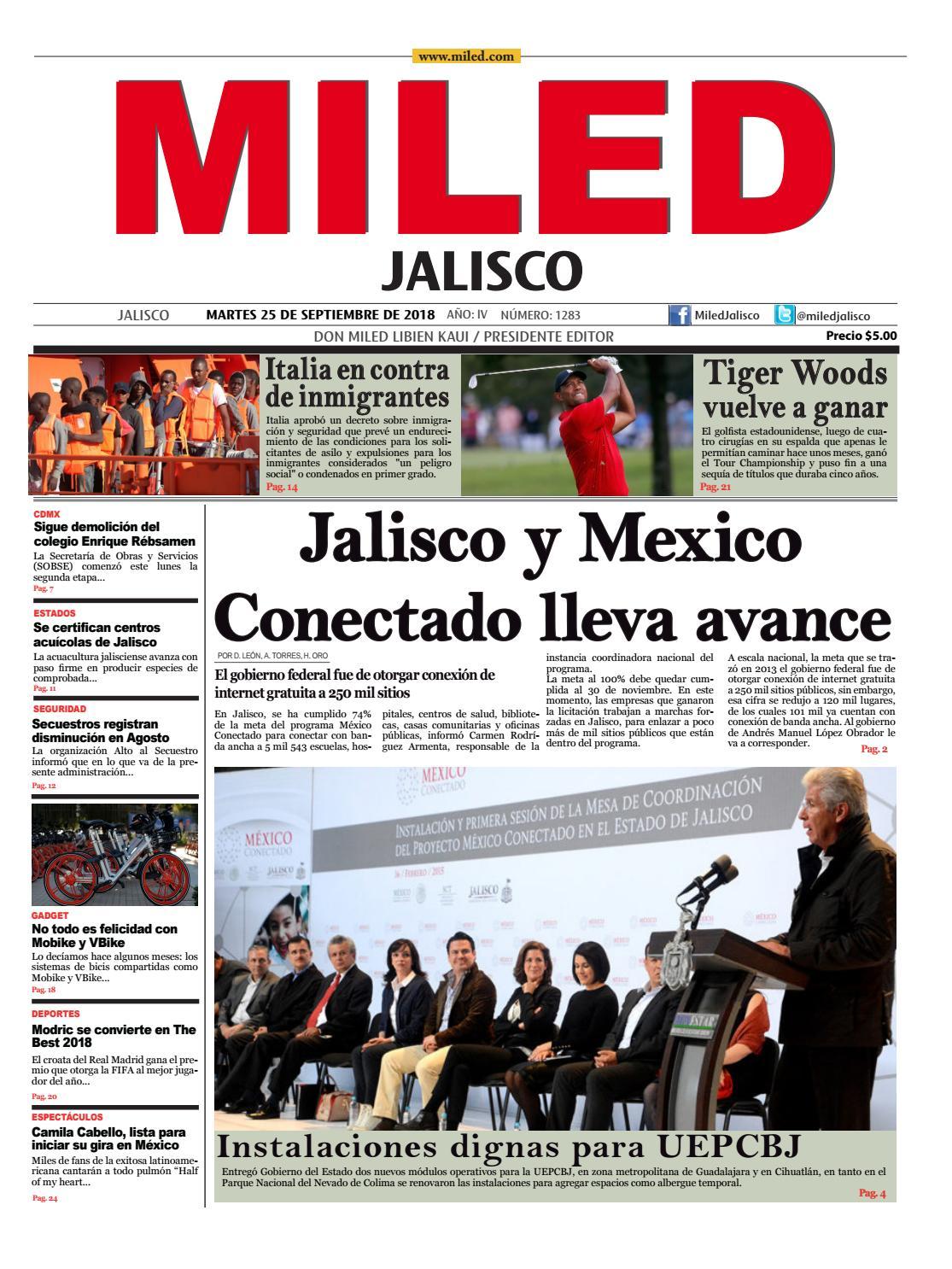 Miled Jalisco 25 09 18 By Miled Estados Issuu