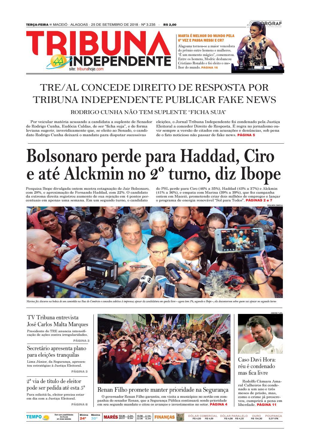 67229d61516 Edição número 3235 - 25 de setembro de 2018 by Tribuna Hoje - issuu