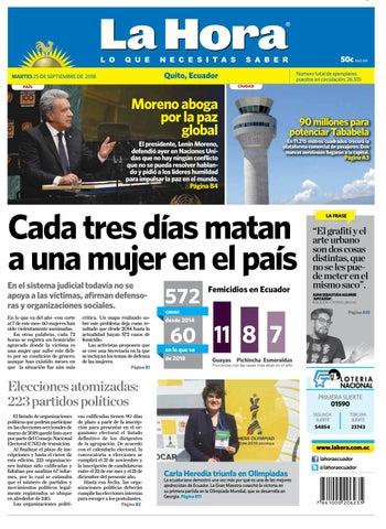 031340a11 Quito 25 de septiembre de 2018 by Diario La Hora Ecuador - issuu