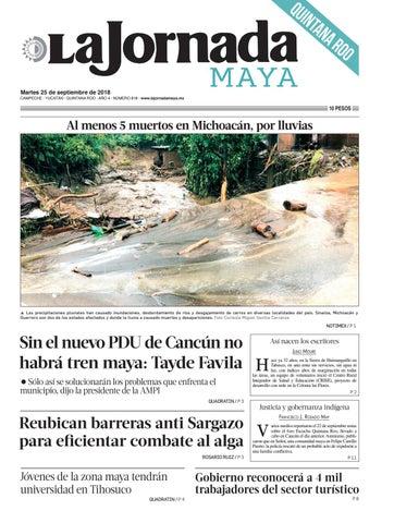 La Jornada Maya · martes 25 de septiembre de 2018 by La Jornada Maya ... 2ad6eba0c4ae0