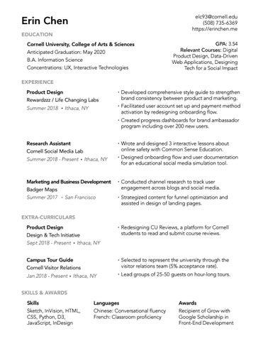 Erins Resume 2018 By Erinc525 Issuu