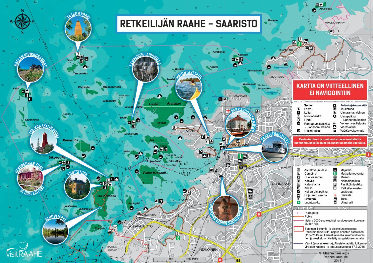 Retkelijan Raahe Raahen Saariston Kartta 2018 By Raahen Kaupunki